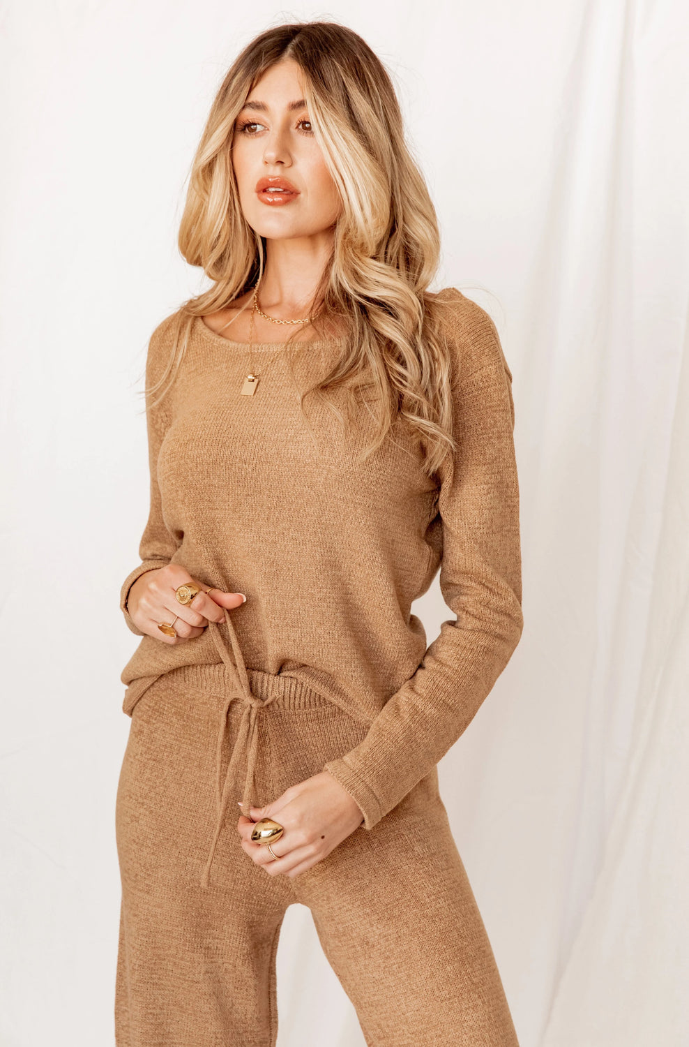 One Way Ticket Tan Sweater