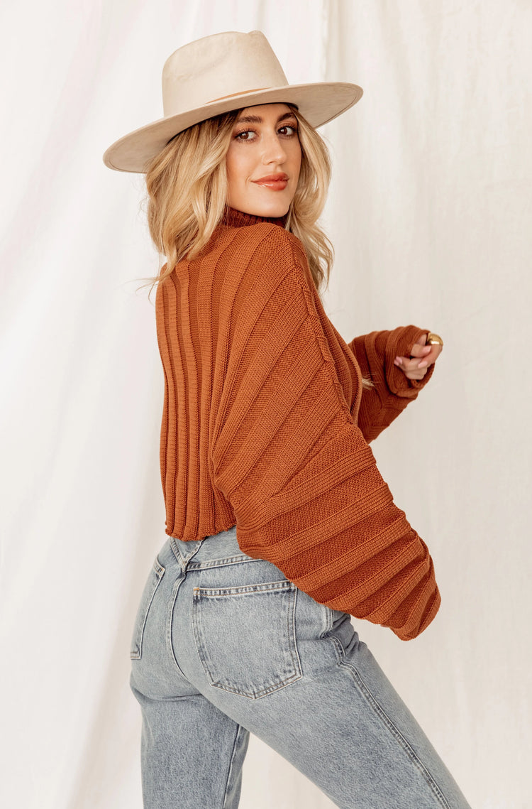 Lucky Penny Cropped Turtleneck Sweater