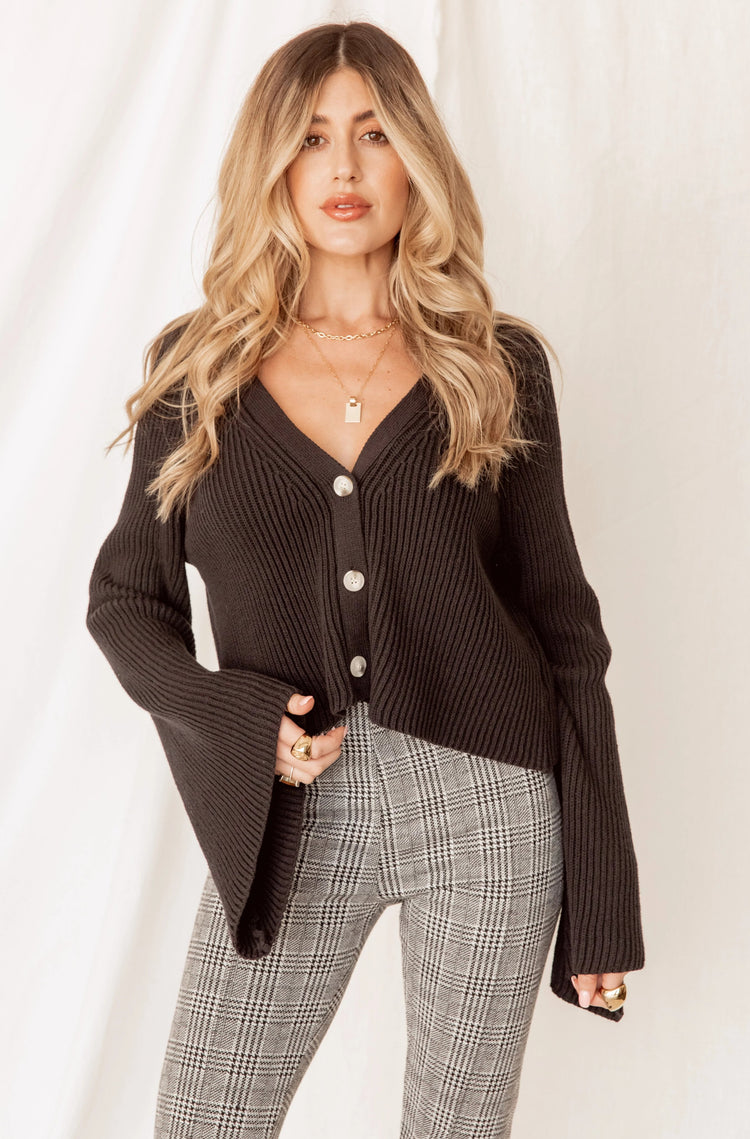 Jordan Black Crop Cardigan