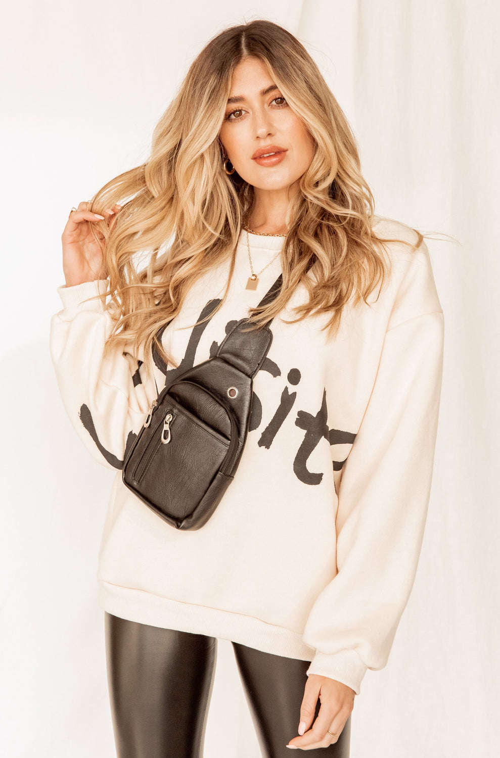 The Exquisite Ivory Crewneck Sweatshirt