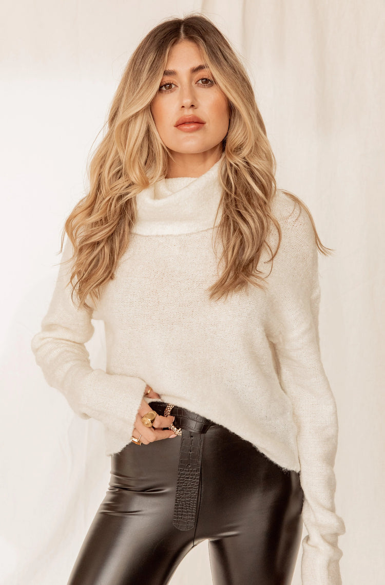 Keep You Close Ivory Turtleneck Sweater