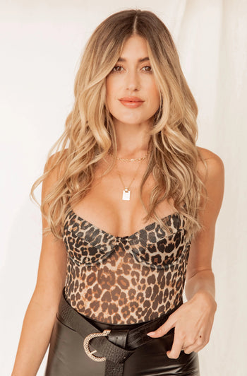 High Expectations Leopard Bodysuit
