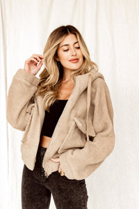 Boston Tan Hooded Jacket