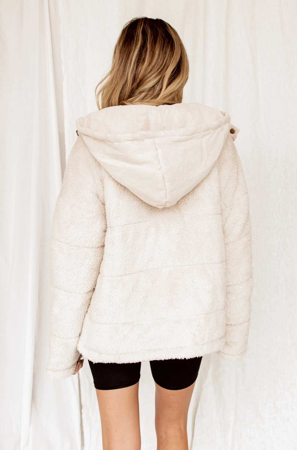 If I Go Faux Fur Ivory Jacket
