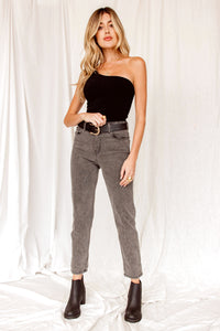 Samantha Grey High Waisted Mom Jeans