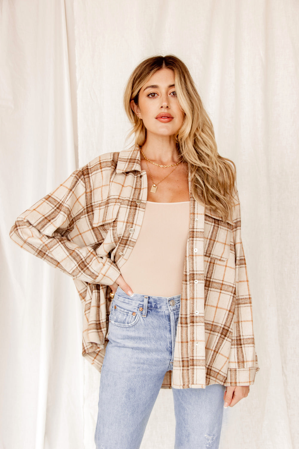 Palm Desert Tan Flannel Shirt