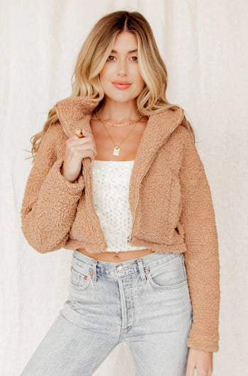 Denver Dreams Sherpa Cropped Jacket