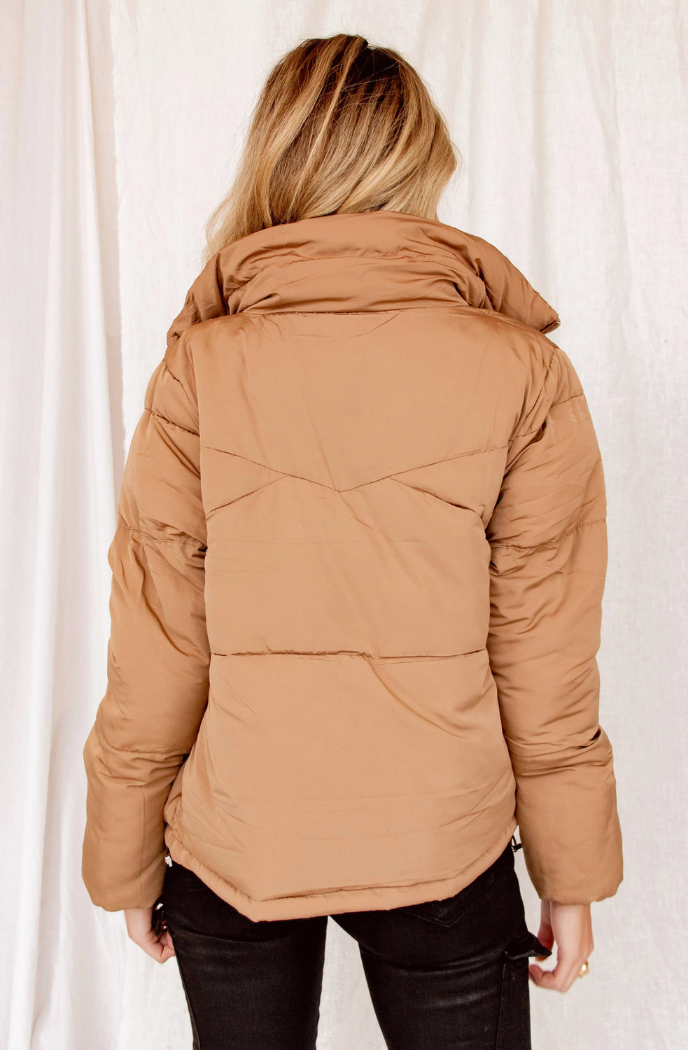 Closer To You Camel Puffer Jacket