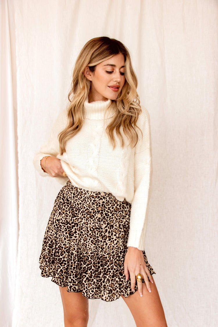 Need You Now Leopard Mini Skirt