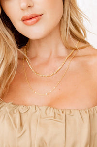 Jaded Gold Layer Chain Necklace