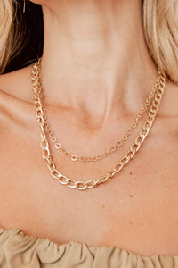 Ava Gold Chain Layer Necklace