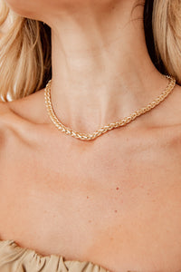 Lola Gold Braided Chain Necklace