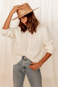Joshua Tree Ivory Mock Neck Sweater