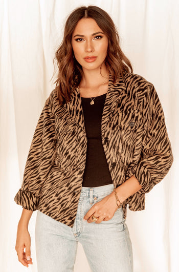 Wild Thing Tiger Wool Jacket