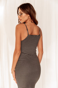 Smooth Sailing Striped Midi Dress
