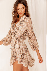 Naples Reptile Ruffled Dress