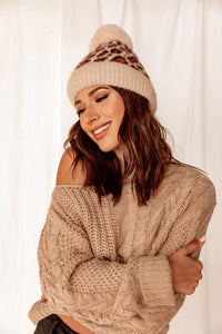 Holly Brown Leopard Beanie