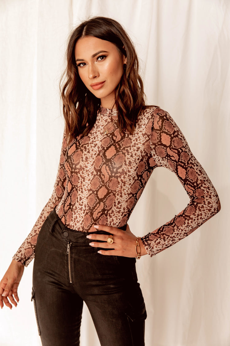 Into The Wild Snakeskin Bodysuit