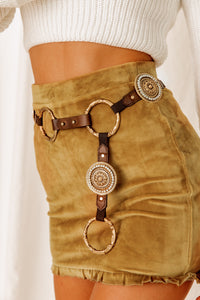 Wendy Gold Ring Statement Belt