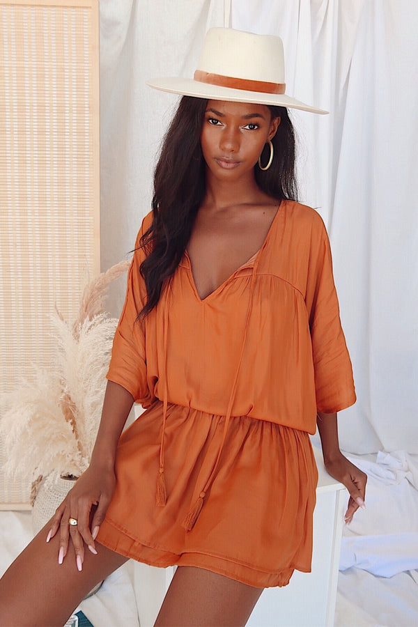 Cambria Orange Dress