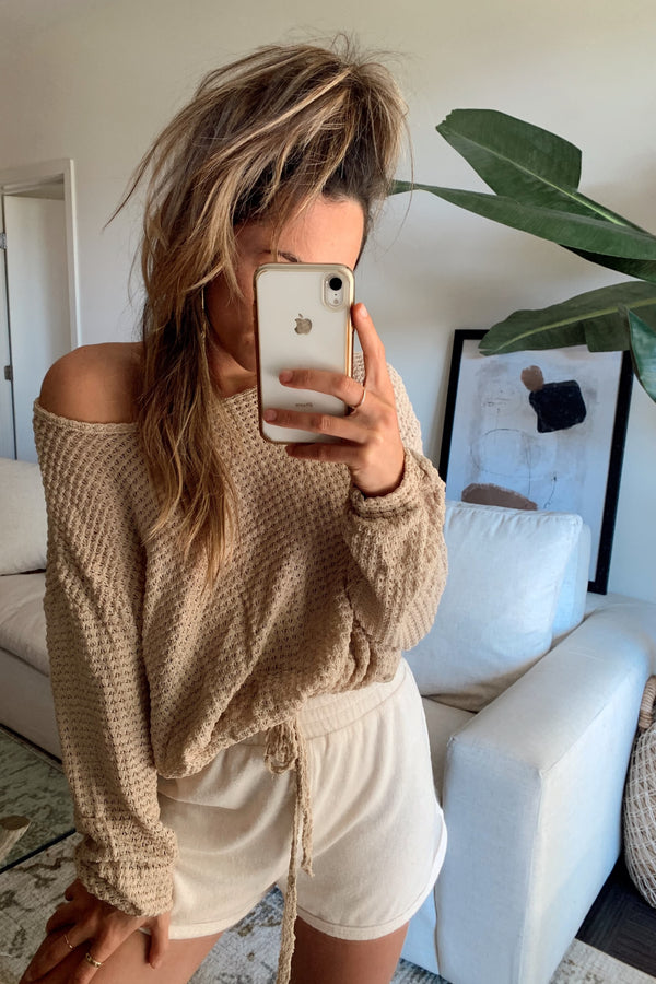 Made For You Tan Knit Top