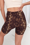Run It Back Black Snake Print Biker Shorts
