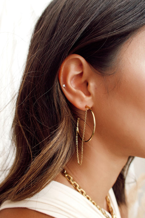 Ellie Vail Cassidy Chain Hoop Earring