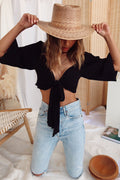 Costa Mesa Black Crop Top