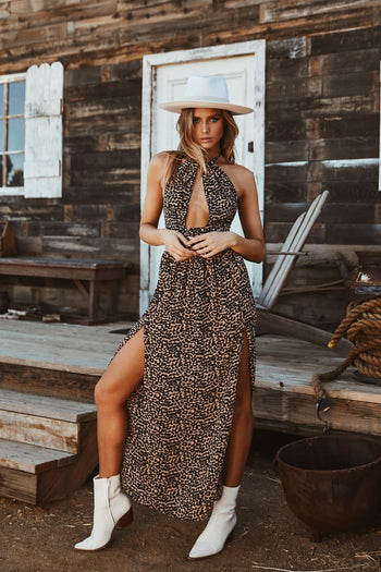 In My Head Leopard Maxi Dress
