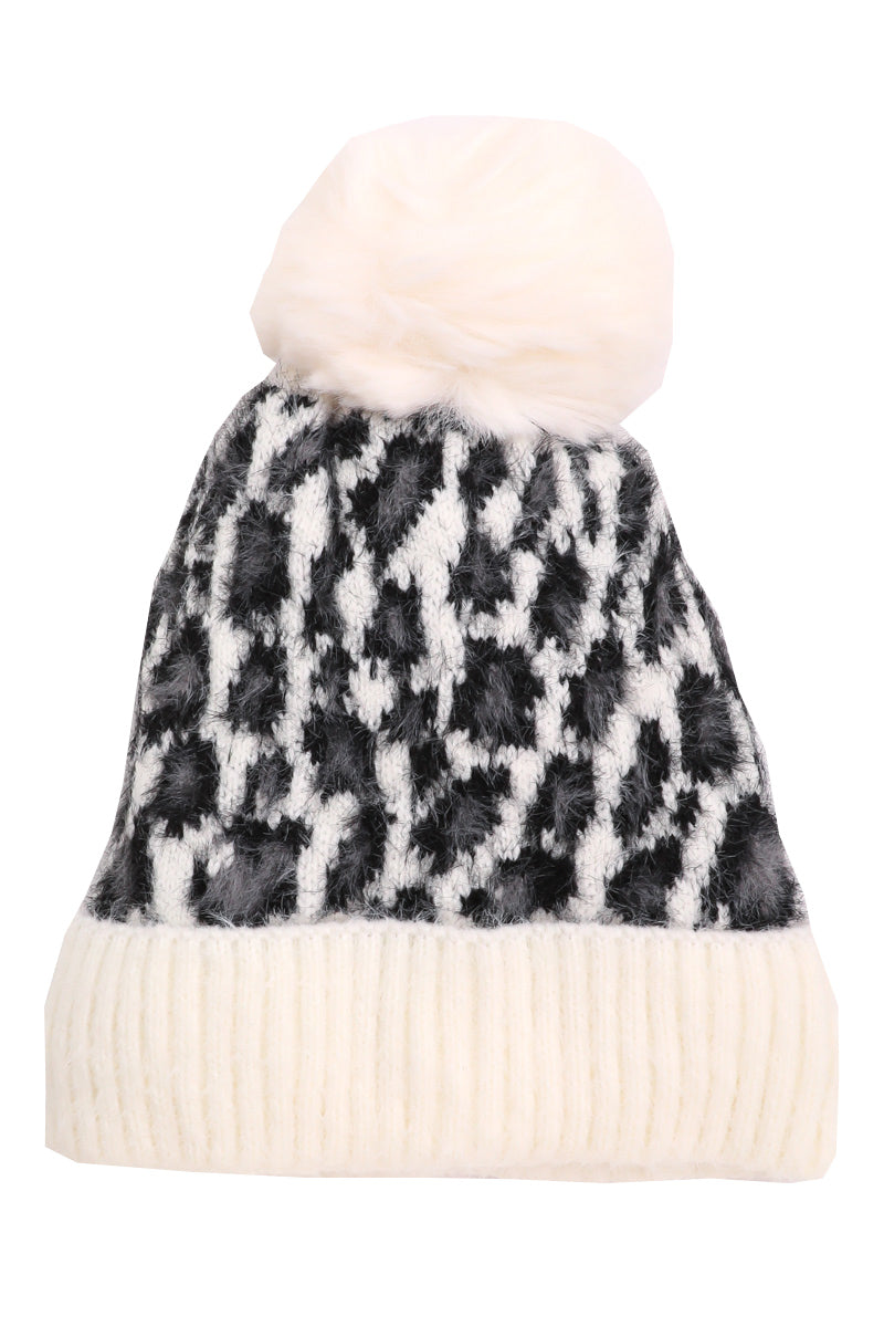 Holly Black Leopard Beanie
