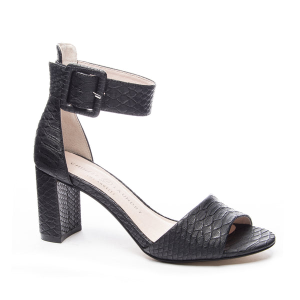 Chinese Laundry Rumor Black Snake Heel