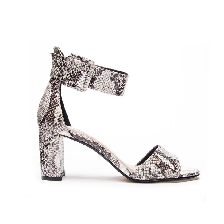 Chinese Laundry Rumor Black & White Snake Heel