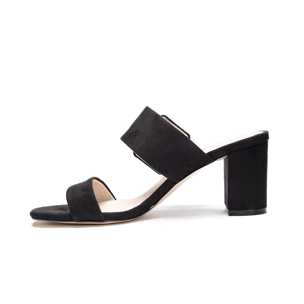 Yippy Black Slide Sandal