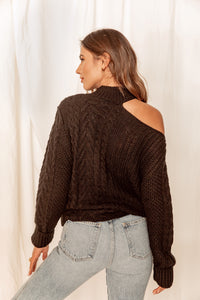 Joshua Tree Black Mock Neck Sweater
