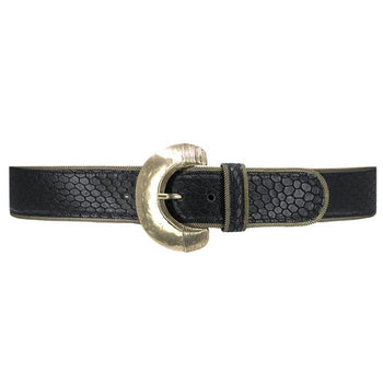 Hawk Black Leather Belt