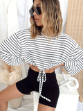 No Reservations Striped Knit Top