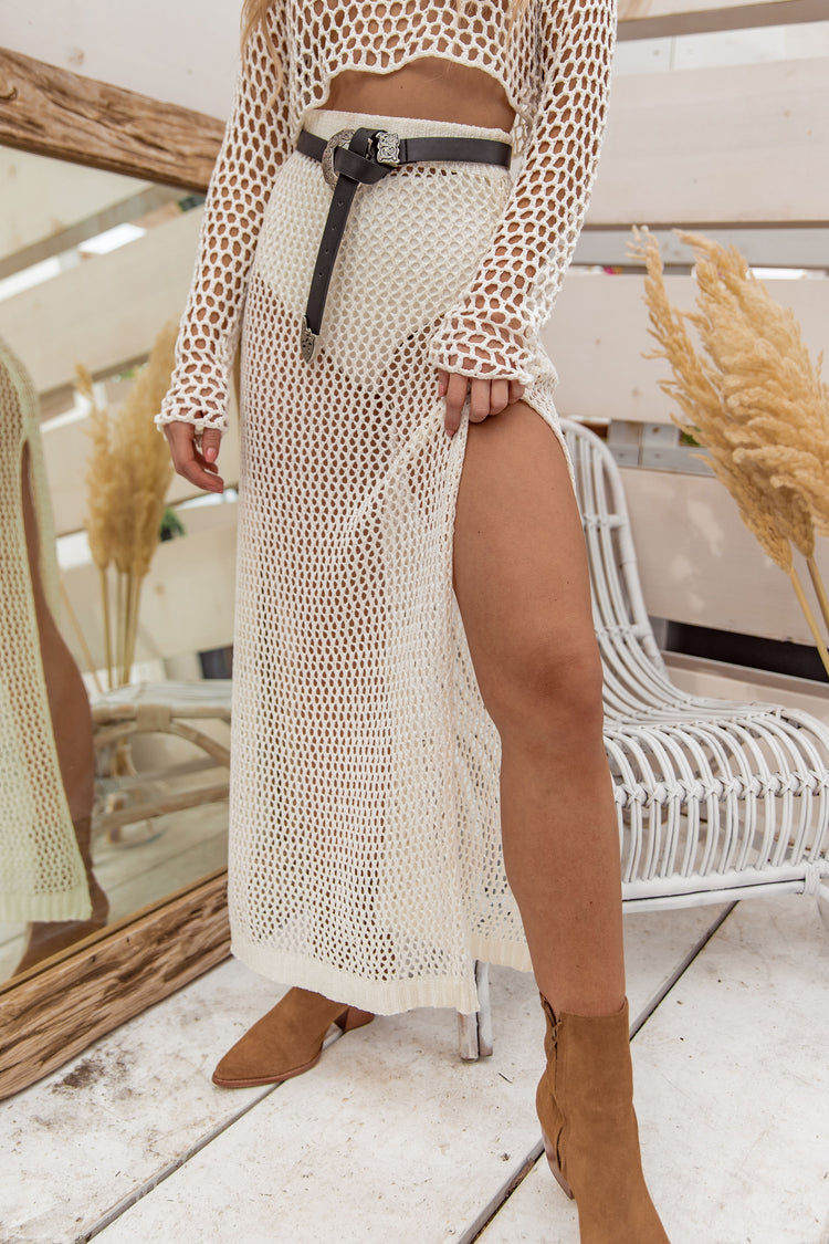 Feel the Beat Fishnet Maxi Skirt