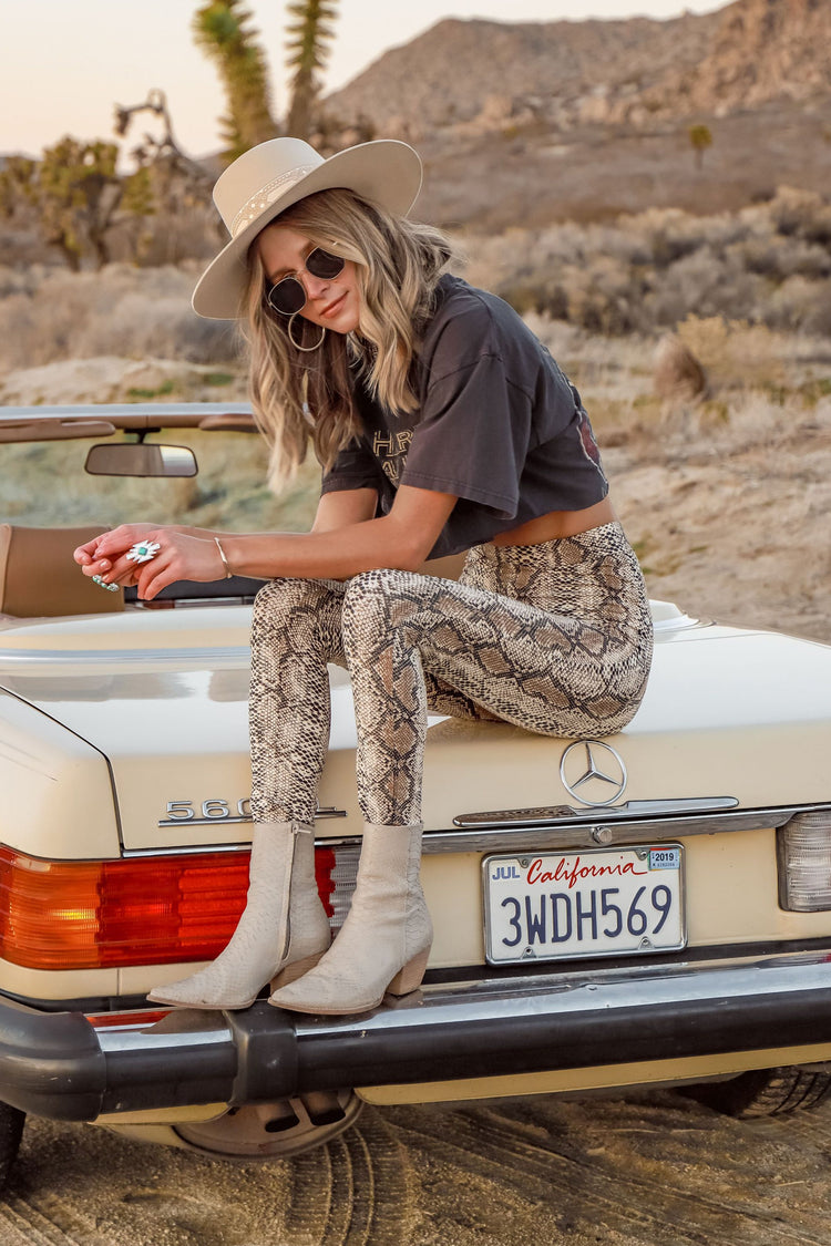 Wild One Snakeskin Leggings
