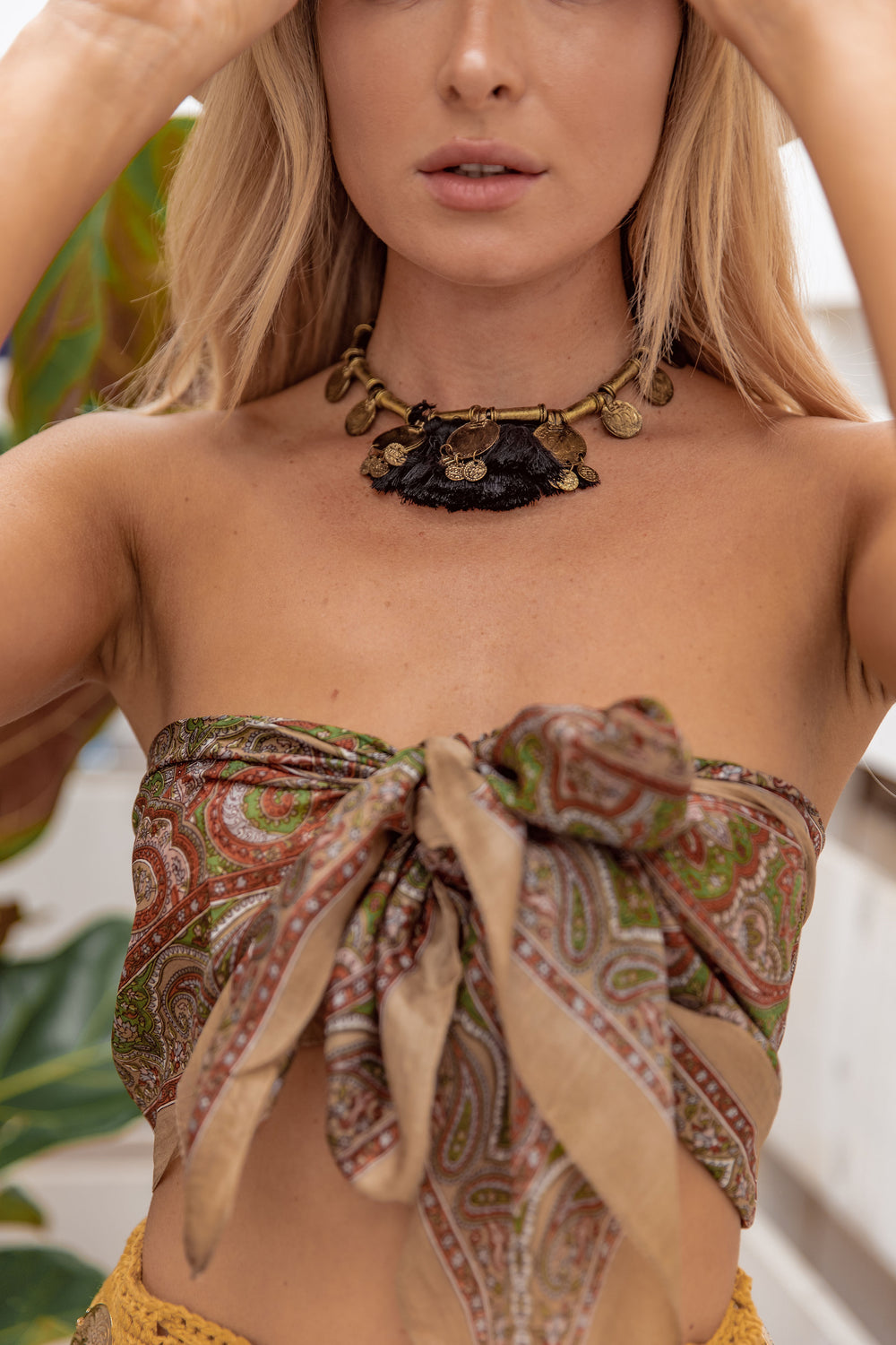 Cairo Coin Fringe Belt Necklace