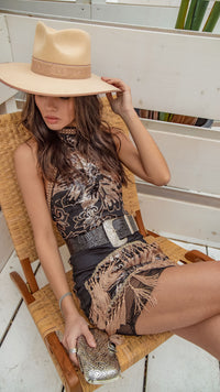 Like Gold Dust Sequin Fringe Dress