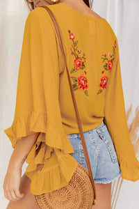 Meet Me In Florence Yellow Wrap Top