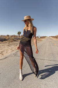 Desert Winds Black Bodycon Dress
