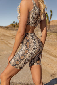 Welcome to the Jungle Snakeskin Bike Shorts