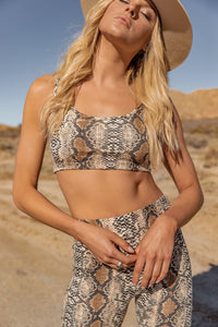 Welcome to the Jungle Snakeskin Crop Tank