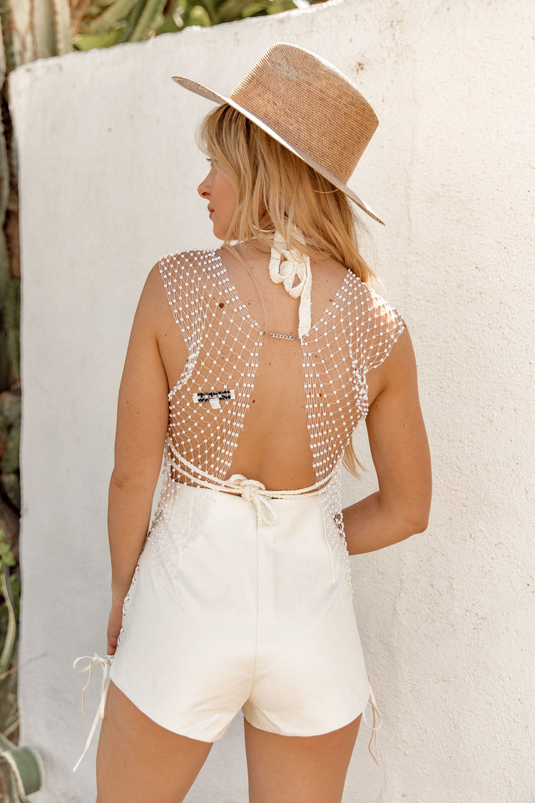 Own The Night Jeweled Fishnet Top
