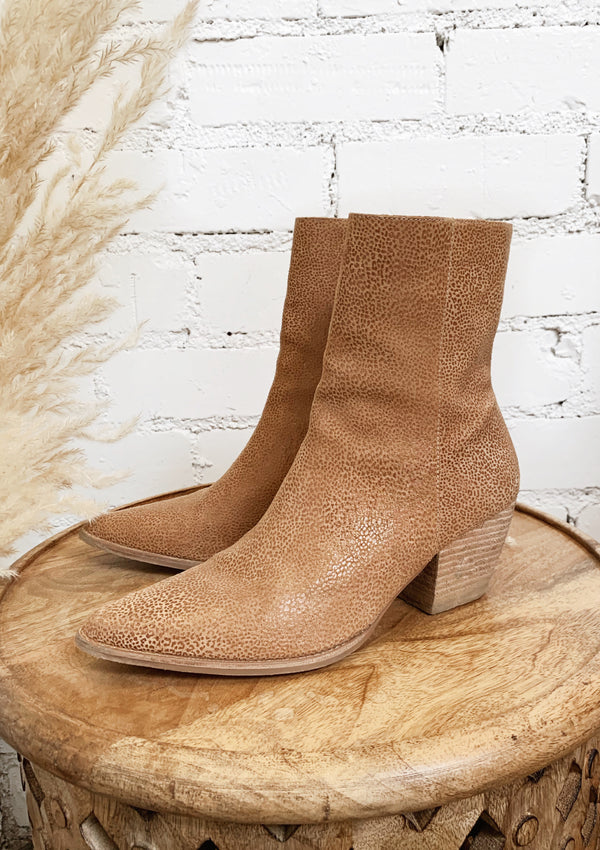 Tan Pebble Matisse Caty Bootie