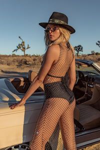 Hit the Road Mesh Jeweled Coverup
