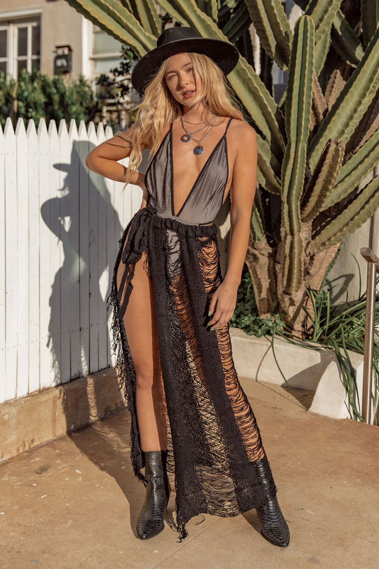 East N West Black Tigerlilly One Piece Swimsuit