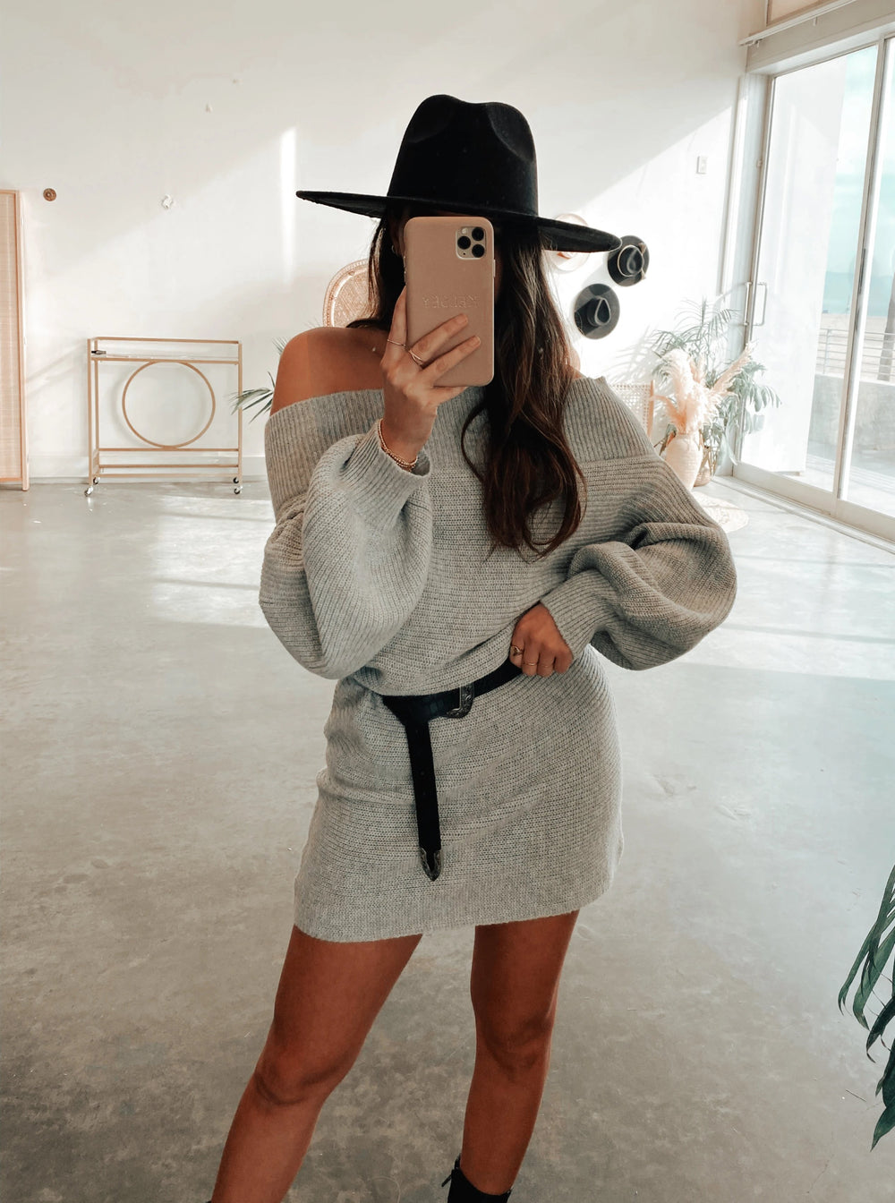 Take It Or Leave It Sweater Dress