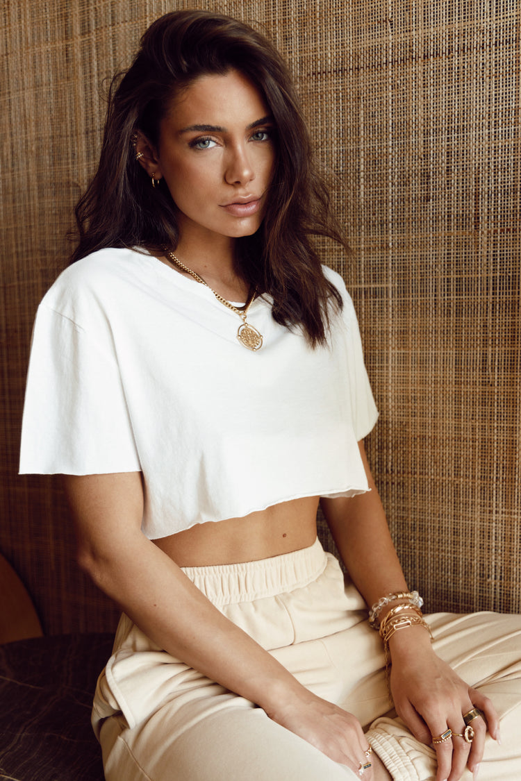 About Time White Wrap Top